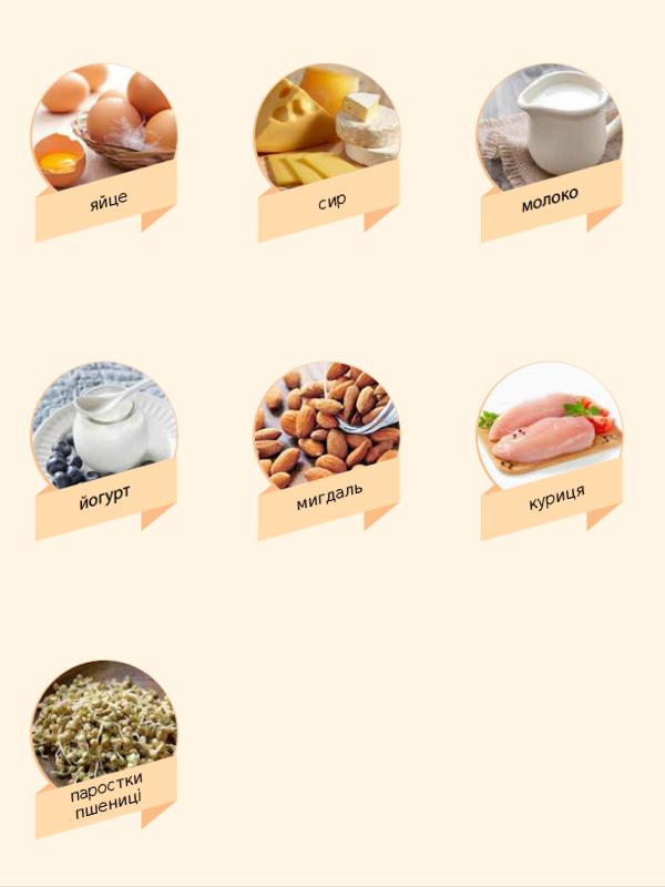 Продукти багаті вітаміном В2